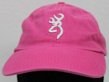 BROWNING Hat Cap Womens Pink Adjustable Firearms Hunting Outdoors Girls EUC
