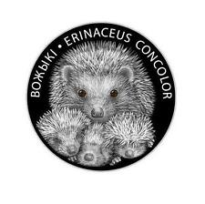 Belarus 2011 20 rubles Hedgehog with Family 1Oz Silver Proof Coin