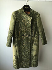 CLASSY GREEN JACKET BY ETRO WITH AMAZING DETAILED PATTERN PRINT