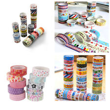 HA 10x 3M Washi Paper Set Masking Tape Scrapbook Decor Tape Adhesive Sticker DIY