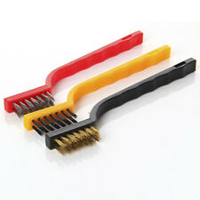 Stainless Steel Wire Brush Rust Remover Sparks Wheels Cleaning Scrub Portable