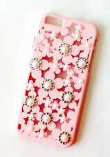SUPERB UK SELLER, PINK ARTISTIC DIAMANTE/PEARL cover for i phone 6/6s