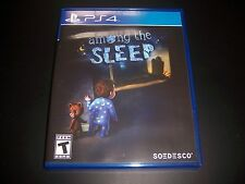 Replacement Case (NO GAME) AMONG THE SLEEP PlayStation 4 PS4 100% Original Box