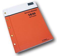 CASE 1830 SKID STEER UNI-LOADER SHOP MANUAL SERVICE TECHNICAL REPAIR NEW PRINT