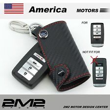 Leather Key Fob Holder Case Chain Cover fit For 2016  ACURA  RLX RDX MDX ILX TLX