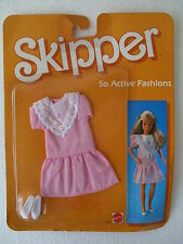 skipper abiti tempo libero vestiti dress doll freizeitkollektion 1985 NRFB 2237