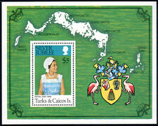 Turks & Caicos 324 S/S, MNH. QE II Silver Jubilee. Royal visit. Arms, 1977