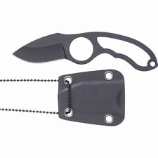 Skeleton Knife - Self Defense Neck Knife - Non-Glare Finish Blade and Handle