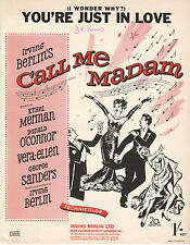 "You're Just In Love - from Irving Berlin's ""Call Me Madam"" -1950 Sheet Music"