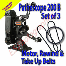 PATHESCOPE 200b 9.5mm CINE PROIETTORE Cintura Set (motore, riavvolgi & Take Up)