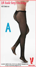 "VERYCOOL 1/6 Female Woman Girl Black Lace Mesh Stockings F 12"" Action Figure"