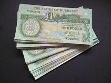 Un Stati di Guernsey ONE POUND nota in un-circolato ottime condizioni Guernsey £ 1.