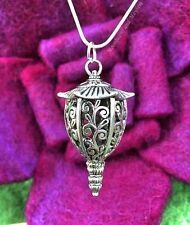 DIVINE NEW LANTERN PENDANT NECKLACE HIPPIE GYPSY BOHO SILVER PEACE CHAIN PEACE