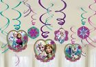 Disney's FROZEN Hanging Swirls Decorations Birthday Party Supplies 12 pack