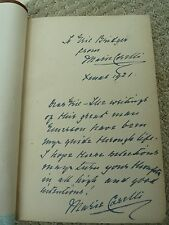 "Marie Corelli's 1921 inscription in 1905 book ""Through the Year with Emerson"""