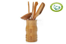 Chinese Bamboo Basket Gongfu Tea Utensil Set / 6PCS