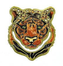 JAY STRONGWATER JUNGLE TIGER HEAD AMUR BOOKMARK SWAROVSKI NEW ORIGINAL BOX