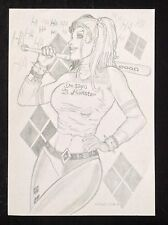 Harley quinn art original-suicide squad margot sexy érotique pin-up fantasy comic