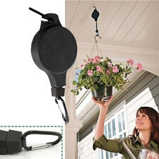 Retractable Hanging Basket Pulley Flower Plant Pots Pull Down Hanger Garden Tool