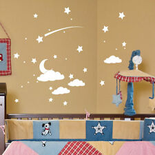 Clouds Star Dot Moon Wall Stickers Children Nursery Kids Room Decals 30-2