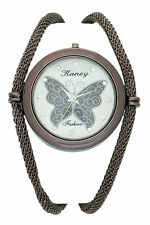 Chrome Plated Butterfly Design in Dial Women Watch