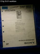 Sony Service Manual SRF M55 PLL Synthesized Radio (#5258)