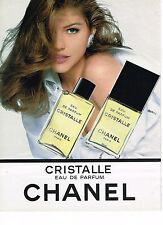 PUBLICITE  1992   CHANEL    eau de parfum  CRISTALLE