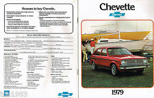 1979 Chevy CHEVETTE Brochure/Catalog with Color Chart: SCOOTER,HATCHBACK,SEDAN,