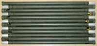 12 Stacking Aluminum 4 Ft. Mast Poles For Field Day Antennas Ribbed Camouflage