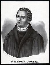 LUTHER - schönes großes Portrait Lithographie um 1830 - Original!