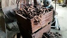 "(50 ft) ANTIQUE Rusty 8"" * STUD LINK * MARINE SHIP's ANCHOR CHAIN * Bethlehem"
