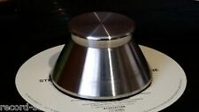 400 gram Stainless steel record stabilizer weight compatible with 45rpm adaptors