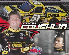 "2016 CODY COUGHLIN ""JEGS NEW VERSION"" #51 NASCAR CAMPING WORLD TRUCK POSTCARD"