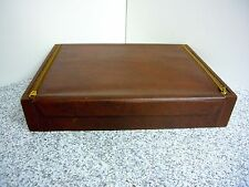 CHEST FLATWARE ZIPPERED STORAGE BOX LINED NAKEN'S TARNISH CLOTH Vintage Silver