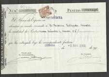 DOCUMENTO BANCO ESPAÑA EN MURCIA CON SELLO FISCAL,VENDO DE ESTOS DIFERENTE SELLO
