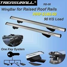 Genuine Treasurall Universal Roof Racks Cross Bars 90kg Load lockable 1200mm