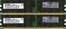 Dell 4GB (2x2GB) PC2-5300p DDR2 2Rx8 ECC Reg/Registered Server Ram Memory