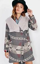Ecote Urban Outfitters Asymetrical Tribal Print Oversized Blanket Coat Small