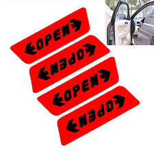 8 Pcs/Set Reflective Car Door Sticker Open Words Safety Warning Sticker Red