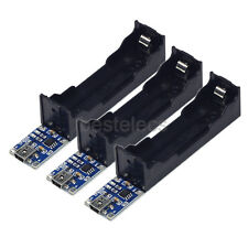 3pcs TP4056 18650 Lithium Li-ion Battery Charger Holder Board /w LED Indicator