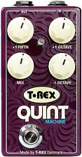 T-Rex Quint Machine Octave & Fifths Guitar or Bass Effects Pedal - Brand New!