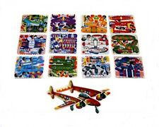 12 Mini Aereo Aliante 3d Puzzle Party Borsa Filler
