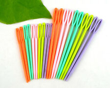 20PCs Plastic Sewing Knitting Cross Stitch Darning Needles Children's Multicolo