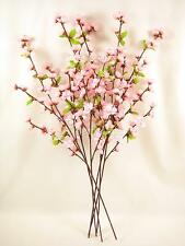 6 FIORI ARTIFICIALI 74 CM ROSA CHERRY BLOSSOM SPRAY / steli per disposizione