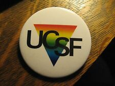 University Of California San Francisco UCSF Gay Lesbian Rainbow Lapel Button Pin