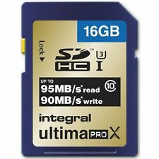 Integral 16GB UltimaPro X SDHC UHS-I Speed Class U3 - 95MB/s. INSDH16G10-95/90U1