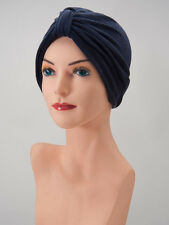 Navy Blue Terry COTTON TURBAN Cancer Chemo Cap Hat Scarf FREE SHIPPING!!!