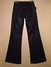 $185 Seven 7 For All Mankind Ginger Dark Waxed Trousers Wide Leg Flare Jeans 24