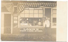 Real Photo Postcard Lamb's Postcard Store in Manchester, New Hampshire~97942