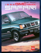 Prospekt brochure 1992 GMC Safari Van (USA)